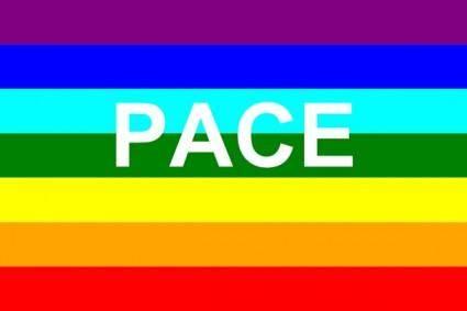 Italian Peace Flag clip art