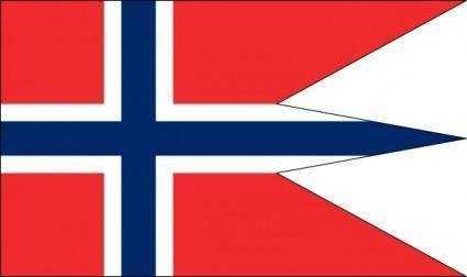 free vector Norwegian State And War Flag clip art