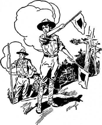 Boy Scouts clip art