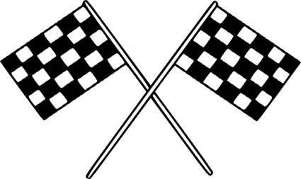Motor Racing Flags clip art