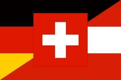 free vector German Language Flag clip art
