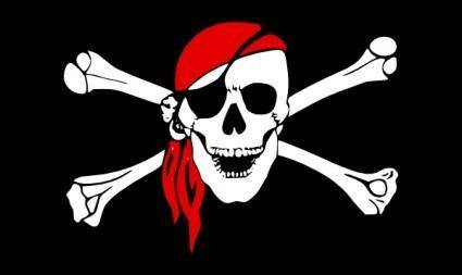 free vector Laurent Drapeau Pirate clip art