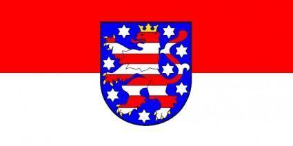 Tobias Flag Of Thuringia clip art