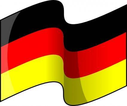Waving German Flag clip art