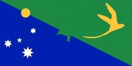 free vector Antarctica Christmas Island Flag clip art