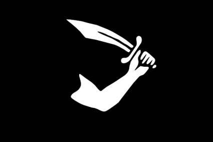free vector Pirate Flag Thomas Tew clip art