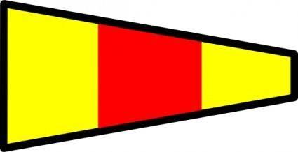 Signal Flag clip art