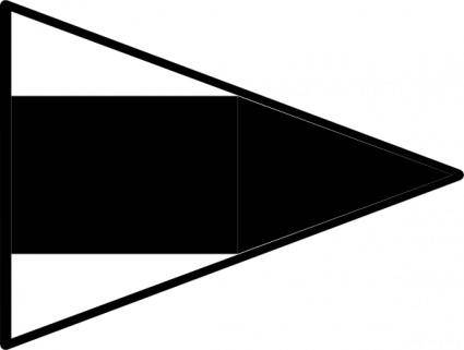 Signal Flag Alt Rd clip art