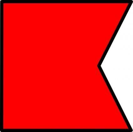 Signal Flag Bravo clip art