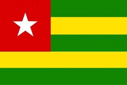 Togo Flag clip art