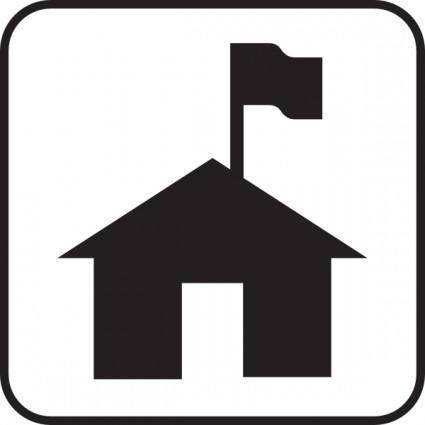 free vector Boy Scouts House clip art