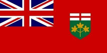 Flag Of Ontario Canada clip art
