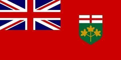 free vector Flag Of Ontario Canada clip art
