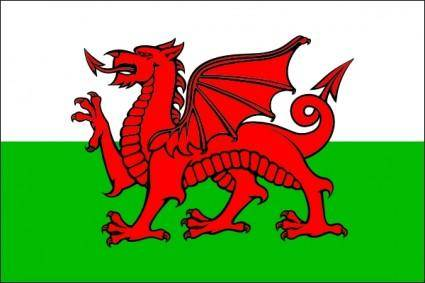 Flag Wales clip art