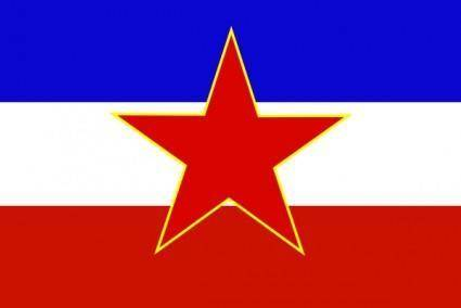Flag Of Yugoslavia Historic clip art