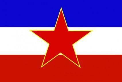 Flag Of Yugoslavia Historic clip art