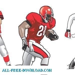 free vector Footbal Players
