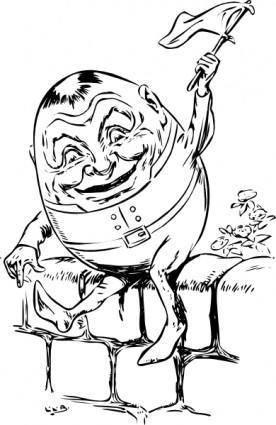 free vector Humpty Dumpty clip art