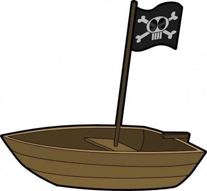 Pirats Boat clip art