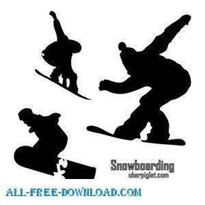 free vector Snowboarding Vectors