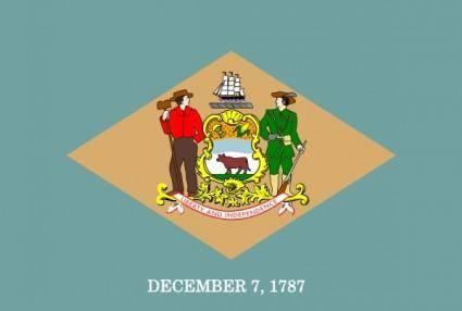Us Delaware Flag clip art