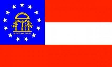 free vector Us-georgia-flag clip art