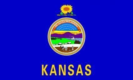 free vector Us Kansas Flag clip art