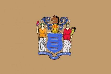 free vector Us Newjersey Flag clip art