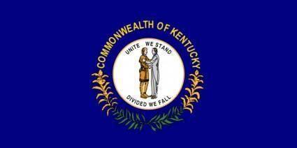 free vector Us Kentucky Flag clip art