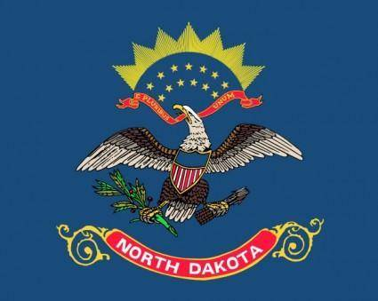 free vector Us North Dakota Flag clip art