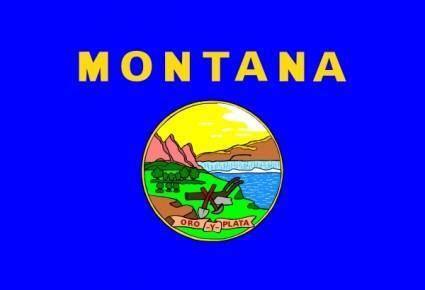 Us Montana Flag clip art