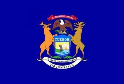 Us Michigan Flag clip art