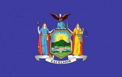 free vector Us New-york State Flag clip art