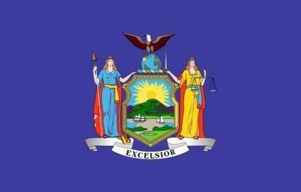 Us New-york State Flag clip art