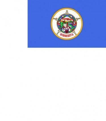 free vector Us Minnesota Flag clip art
