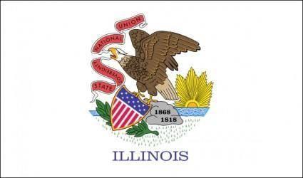 free vector Us Illinois Flag clip art