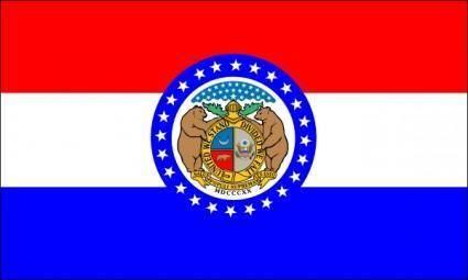 Us Missouri Flag clip art