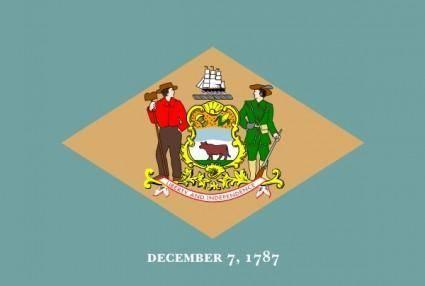 free vector Delaware Flag clip art