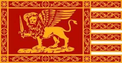 War Flag Of Venice clip art