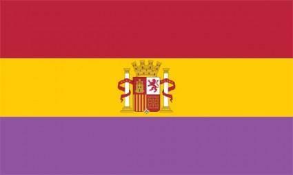free vector Bandera De La Segunda Rep Blica Espa Ola clip art
