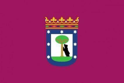 Bandera De La Ciudad De Madrid clip art