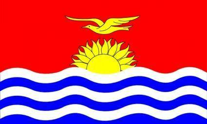 free vector Kiribati Flag clip art