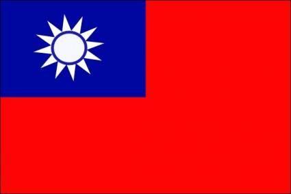 Taiwan Flag clip art