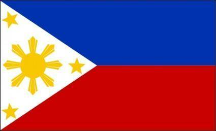 free vector Philippine Flag clip art