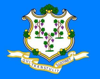 free vector Connecticut Flag clip art
