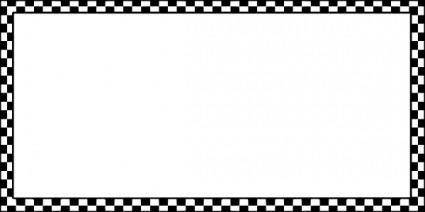 Worldlabel Border Bw Checkered X clip art