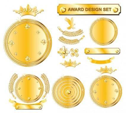 Championship medal vector