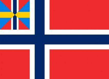 Norwegian Union Flag clip art