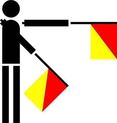 Naval Semaphore Flag Z clip art