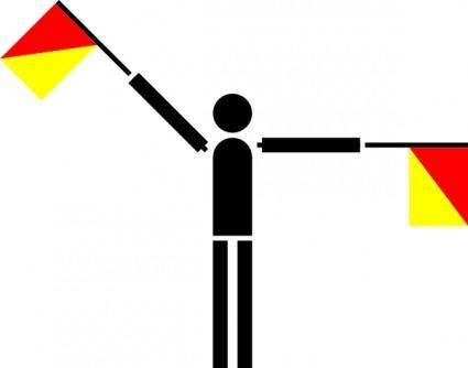 Naval Semaphore Flag Y clip art